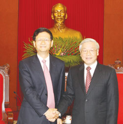 Party leader welcomes Chinese Minister for bilateral discussions