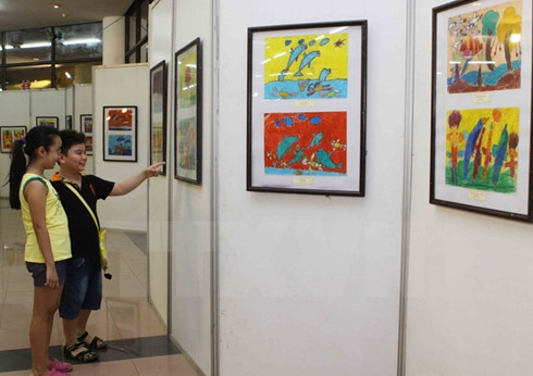 vietnamese kids win 8 prizes in int'l drawing contest hinh 0