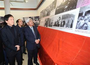 Photos of late General Vo Nguyen Giap on display