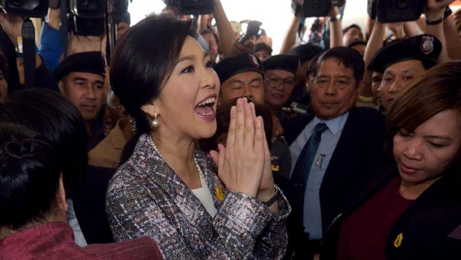Thai ex-PM Yingluck impeached and facing criminal charges