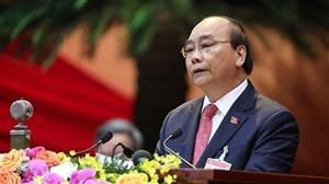 PM Nguyen Xuan Phuc delivers opening speech at the 13th National Party Congress