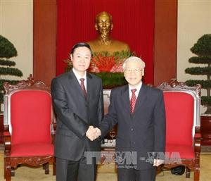 Party chief receive Chinese guest