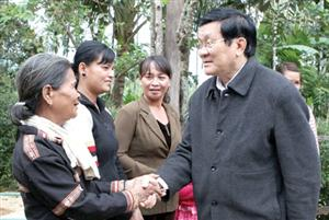 President urges Binh Dinh to develop fisheries, forestry