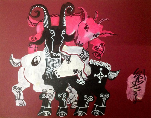 Artists seek inspiration from the goat for Lunar New Year