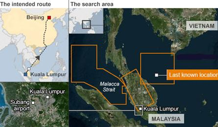 Malaysia military tracked missing plane to west coast: source