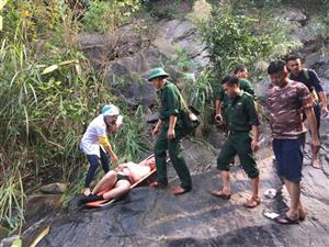 British tourist injured in Thua Thien-Hue waterfall