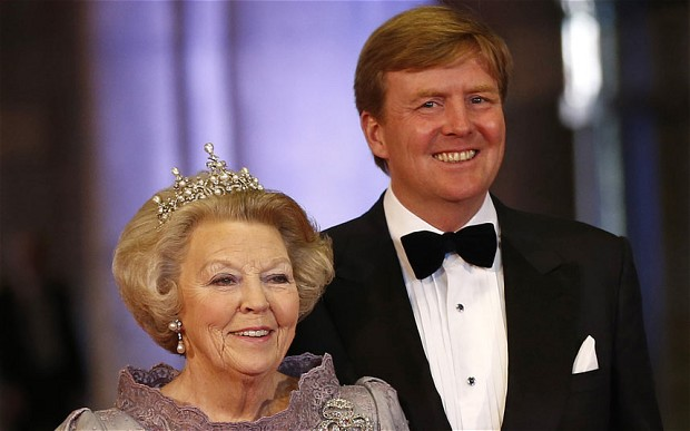 Crown prince to take throne as Queen Beatrix abdicates
