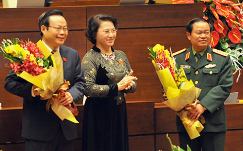 general do ba ty, phung quoc hien elected na vice chairs hinh 0