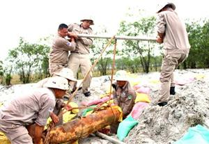 Norway continues help with clearing bombs and mines in Quang Tri