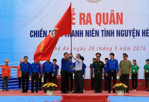 summer youth volunteer campaign launched in nghe an hinh 0