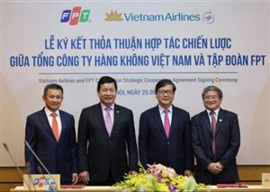Vietnam Airlines & FPT sign strategic cooperation agreement