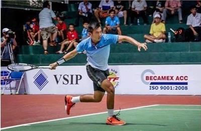 Vietnam tennis player rises 42 steps in world rankings