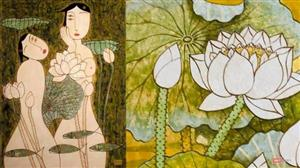 Beauty of the lotus featured through contemporary paintings