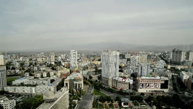 General view of the capital of north-western China's Xinjiang region, Urumqi