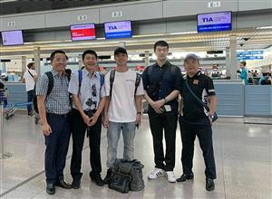 Vietnamese striker leaves for new challenge in Belgium