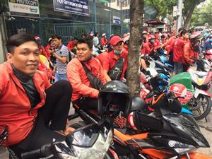 Go-Viet drivers strike over new bonus policy in Ho Chi Minh City