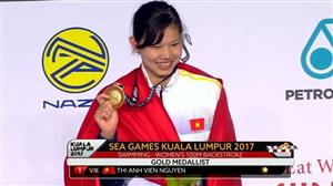 Swimmer Anh Vien wins gold, breaks SEA Games record