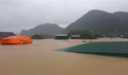 Helicopter to provide flood-hit areas in Quang Binh