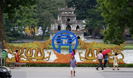 Hanoi streets decorated for Liberation Day