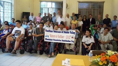 320 wheelchairs presented to disabled people