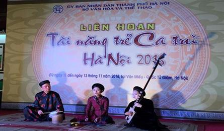 Ca tru festival for Hanoi young singers opens