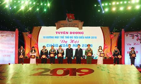 Hanoi honours outstanding youths 2018