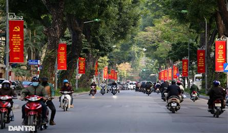 Hanoi streets decorated to welcome party congress