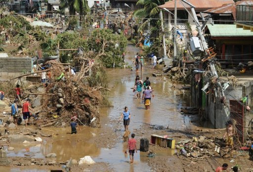 Flood-hit Philippines prepares for mass burials