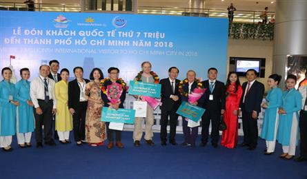 HCM City welcomes 7 millionth int'l visitor