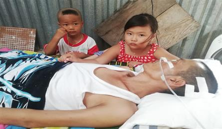 Father bed-ridden after traffic accident, children face gloomy future