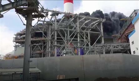 Fire breaks out at southern thermal power plant