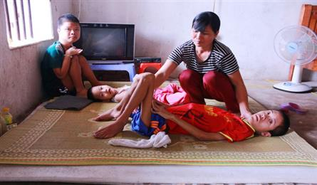 Poor couple seeks help for three ailing children