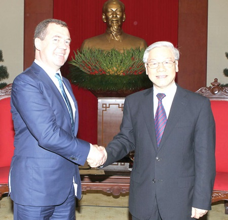 Vietnam, Russia agree to boost two-way trade to $10b by 2020