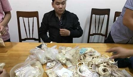 Ivory jewellery seized in Gia Lai