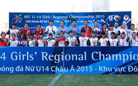 Vietnam win U14 girls' regional football champs