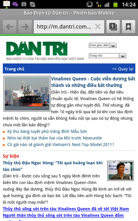 Bao Dien Tu Dan Tri http://en.baomoi.com/Info/Dantri-reaches-650-million-pageviews-per-month/3/284203.epi