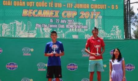 Vietnam wins men's singles champs at int'l tennis tourney