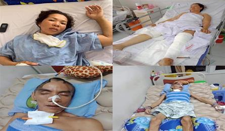 Husband bed-ridden, wife struggling with traffic accident injury need help