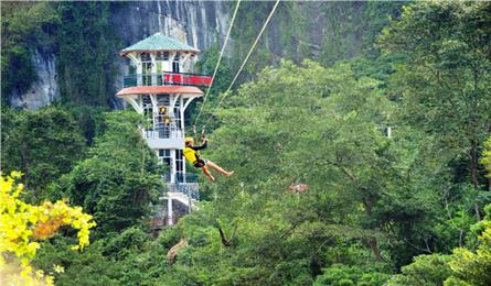 Quang Binh agrees to record-breaking zip line