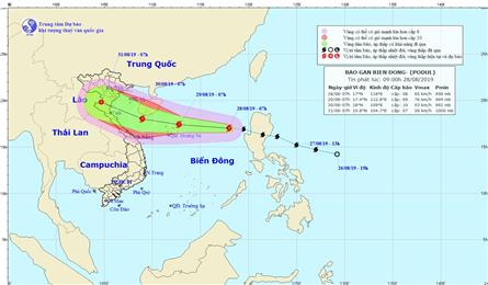 Storm Podul to hit northern, north-central Vietnam