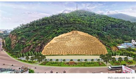 Giant sculptural relief to be built on Binh Dinh mountain