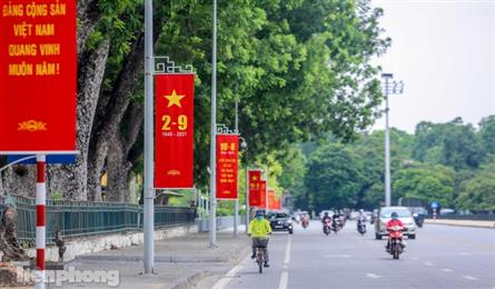 Hanoi streets decorated for National Day celebration