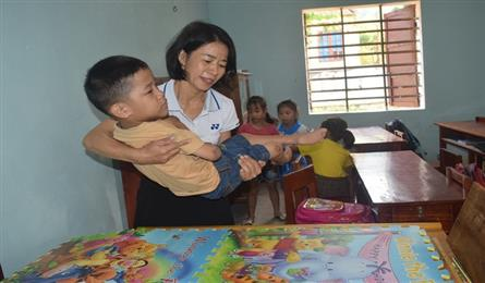 Disabled boy's dream of going to school comes true