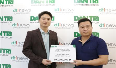 Dantri staff and readers donate to flood victims