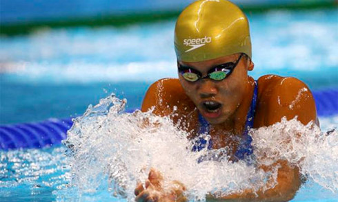 Anh Vien enters the final of 200m freestyle at Asian champ