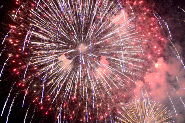 New Year welcomed in with firework displays