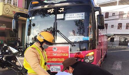 Foreign passenger buses fined for breaking rules