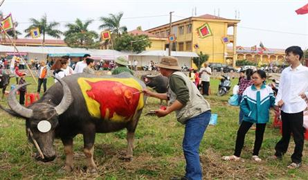 Buffalo painting contest held in Ha Nam
