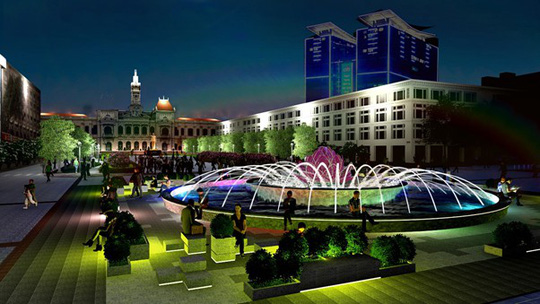 HCM City pedestrian street to have new fountain