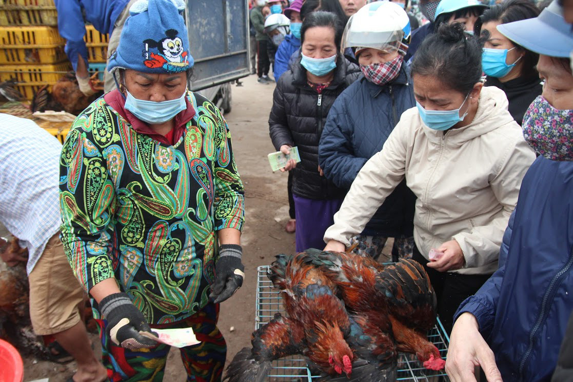 Hanoians line up to help buy chickens from Hai Duong ...